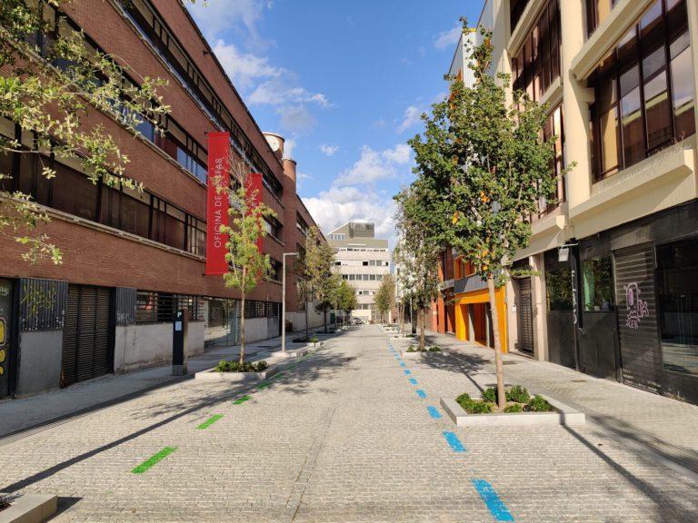 Así luce la renovada calle Javier Ferrero