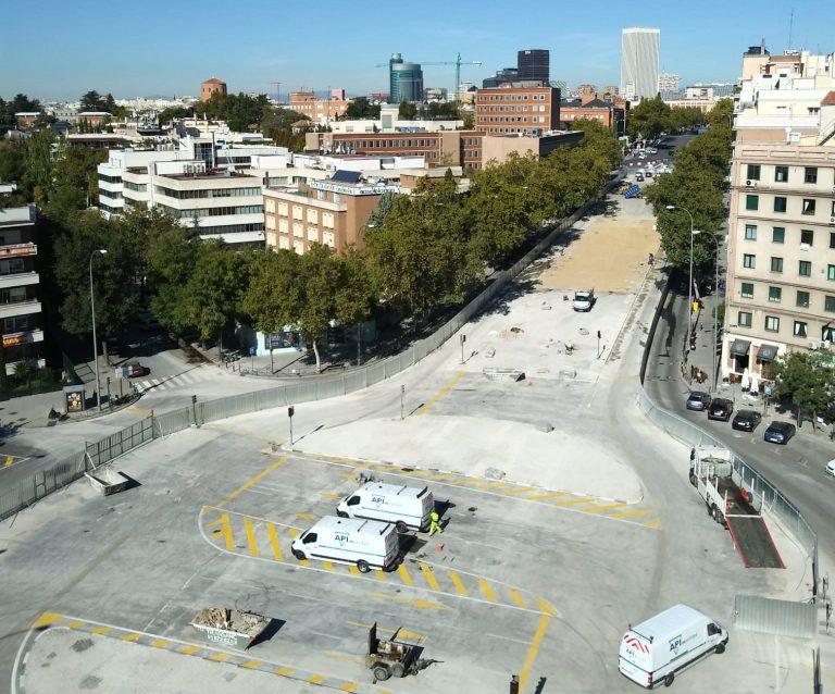 La glorieta de López de Hoyos, reabierta al tráfico antes de lo previsto
