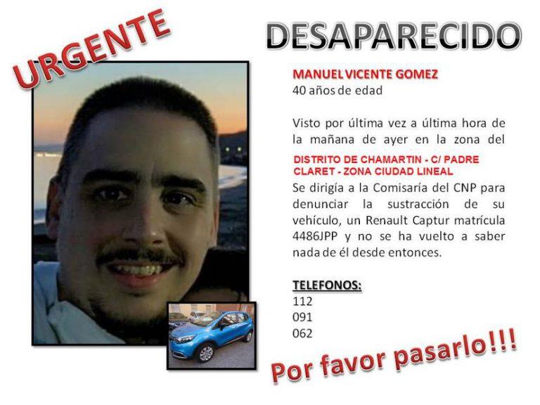 Localizan en buen estado al hombre desaparecido en Chamartín